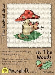 Mouseloft Tiny Toadstool In The Woods cross stitch kit